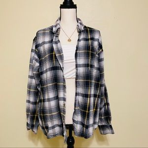 Bass Pro Shops Grey and White Classic Flannel